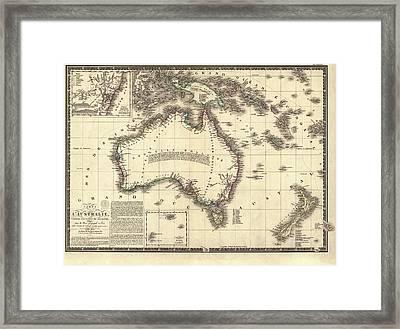 Map Of Australia Framed Print