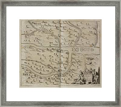 Map Of Basra (al Basrah) In The 17th Cent Framed Print