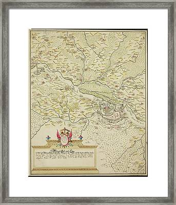 Map Of Belgrade During The Siege Of 1693 Framed Print by British Library