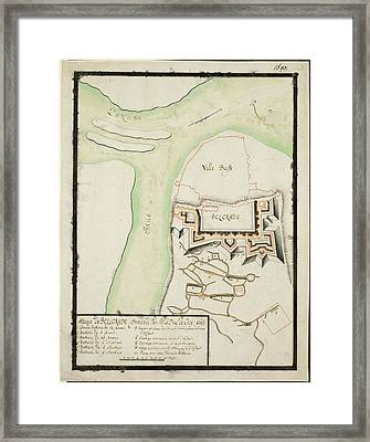 Map Of Belgrade In The Balkans Framed Print by British Library