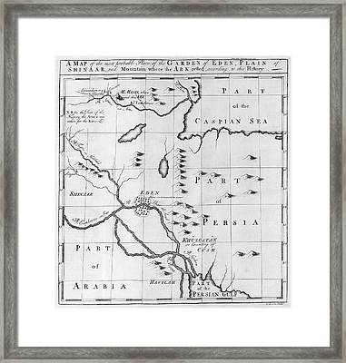 Map Of Biblical Locations, 18th Century Framed Print