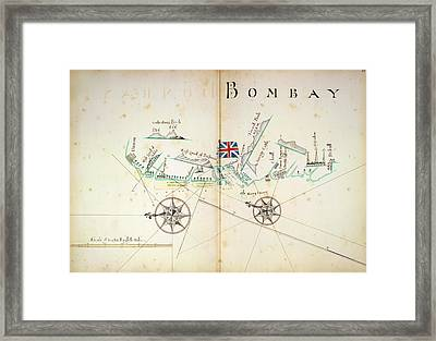 Map Of Bombay Coastline Framed Print by British Library