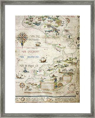 Map Of Canada Framed Print