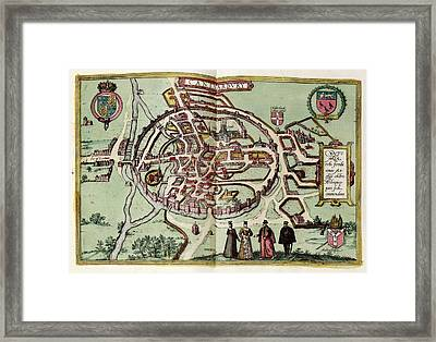 Map Of Canterbury Framed Print by Library Of Congress, Geography And Map Division