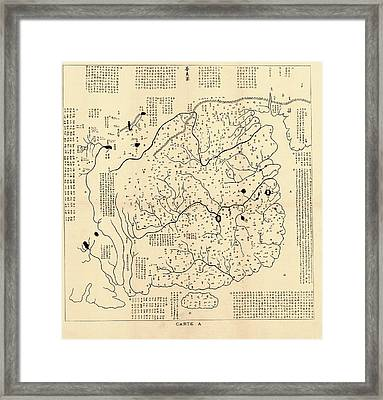 Map Of China Framed Print