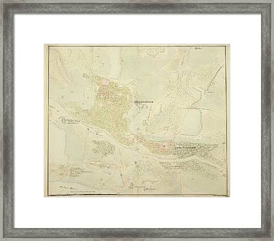 Map Of Conjeeveram Framed Print