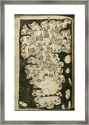 Map Of England And Wales Framed Print by British Library