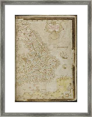 Map Of England Framed Print by British Library