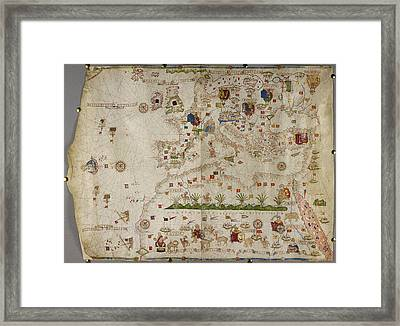 Map Of Europe And Asia Minor Framed Print by British Library
