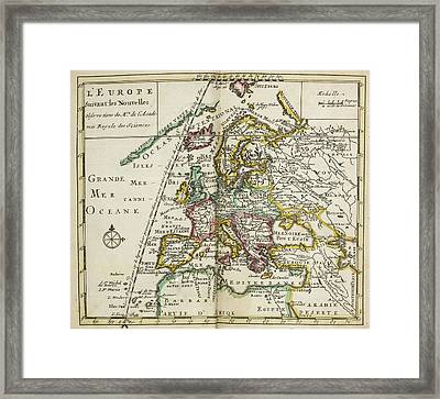 Map Of Europe Framed Print by British Library