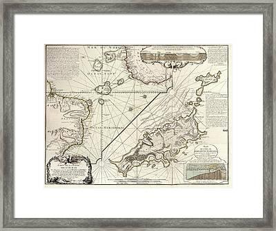 Map Of Fernando De Noronha Framed Print