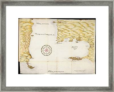Map Of Gibraltar Framed Print by British Library