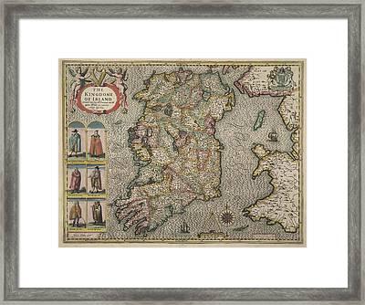 Map Of Ireland Framed Print