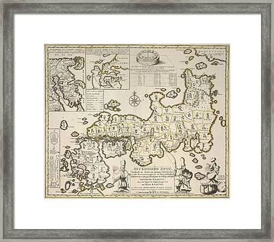 Map Of Japan Framed Print by British Library