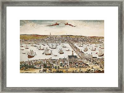 Map Of London In 18th C. Engraving. � Framed Print