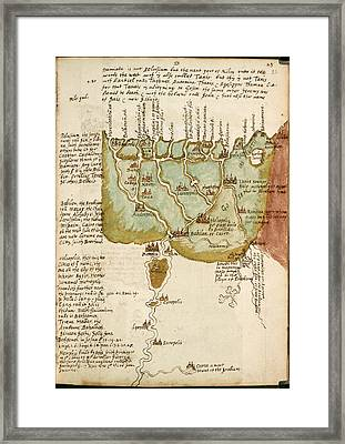 Map Of Lower Egypt Framed Print by British Library