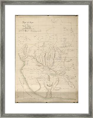 Map Of New Galicia Framed Print by British Library