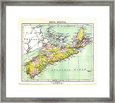 map of Nova Scotia - 1878 Framed Print