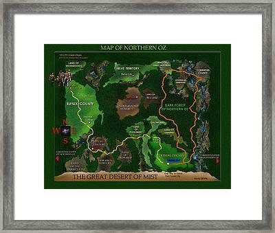 Map Of Oz Framed Print