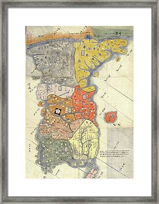 Map Of Provinces Of Korea Framed Print by Library Of Congress, Geography And Map Division