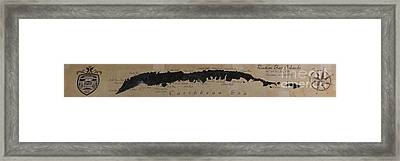 Map Of Roatan Bay Islands Framed Print