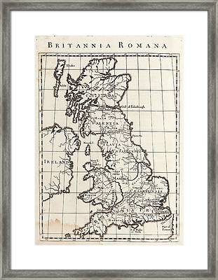 Map Of Roman Britain Framed Print