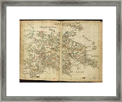 Map Of Scotland Framed Print by British Library