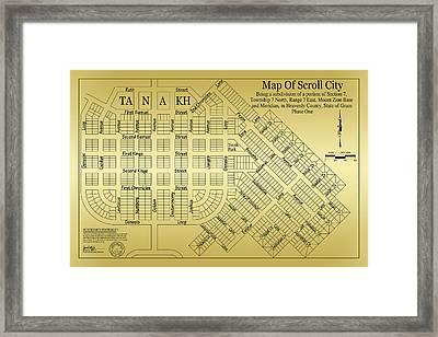 Map Of Scroll City Framed Print