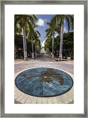 Map Of St. Maarten In The Boardwalk Framed Print