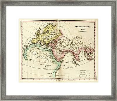 Map Of The Ancient World Framed Print by Library Of Congress, Geography And Map Division