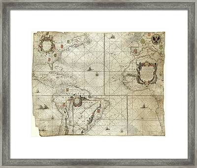 Map Of The Atlantic Coasts Framed Print