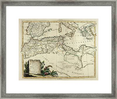 Map Of The Barbary Coast Framed Print by British Library