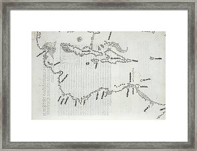 Map Of The Caribbean Framed Print by British Library