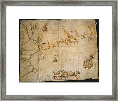 Map Of The Coast Of Maine Framed Print by British Library
