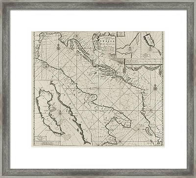 Map Of The Coasts Of The Adriatic, Print Maker Anonymous Framed Print by Anonymous