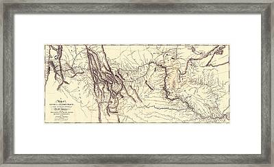 Map Of The Lewis And Clark American Expedition, 1804-1806, Published 1814 Framed Print