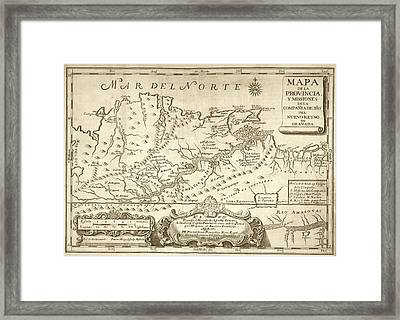 Map Of The Orinoco River Framed Print