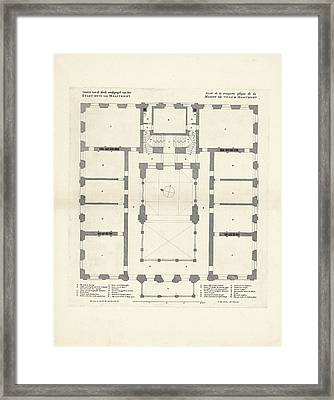 Map Of The Third Floor Of The City Hall Of Maastricht Framed Print