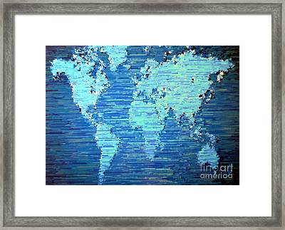 Map Of The World Framed Print by Susan Waitkuweit