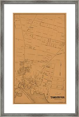 Map Of Toms River 1878 Framed Print by Andrew Fare