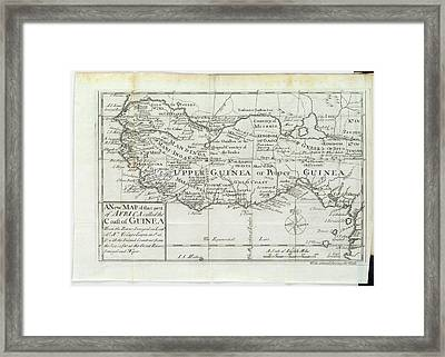 Map Of Upper Guinea Framed Print by British Library