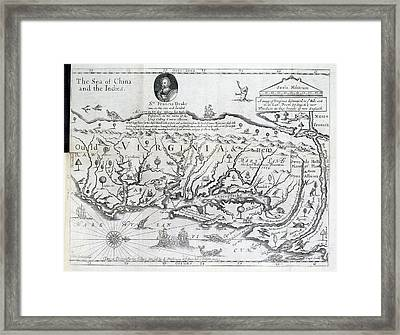 Map Of Virginia Framed Print by British Library