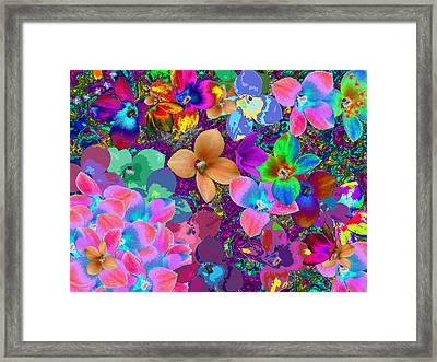 Map Of Your Soul And Flowered Framed Print