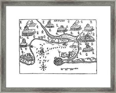 Map Port St Framed Print by Granger