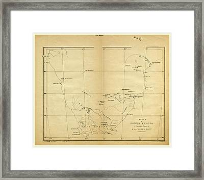 Map, Prospectus Of An Expedition Into The Interior Of South Framed Print