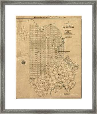 Map San Francisco, 1849 Framed Print
