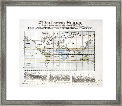 Map Sugar Trade Framed Print