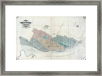 Map: Tacoma, 1873 Framed Print by Granger
