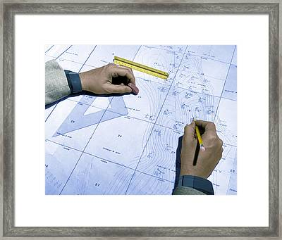 Map Used To Predict Location Of Oil Framed Print by Science Source