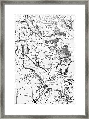 Map Yorktown, 1862 Framed Print by Granger